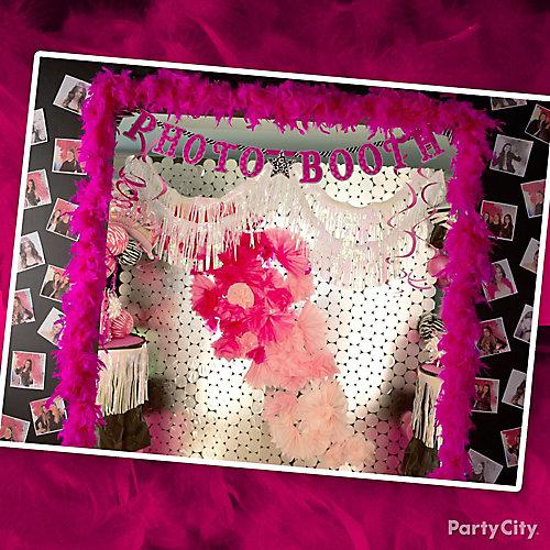 Pink & Zebra Graduation Photo Booth Idea