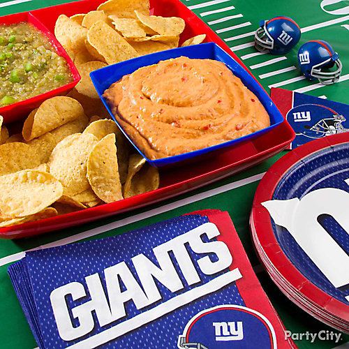 Football Team Snack Table Decorating Idea