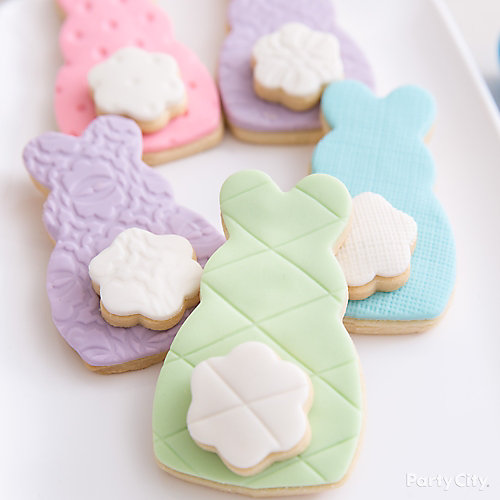 Easter Quilted Cottontail Cookie Idea