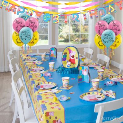 How to Make Party Decorations Simple and Provencal Peppa Pig
