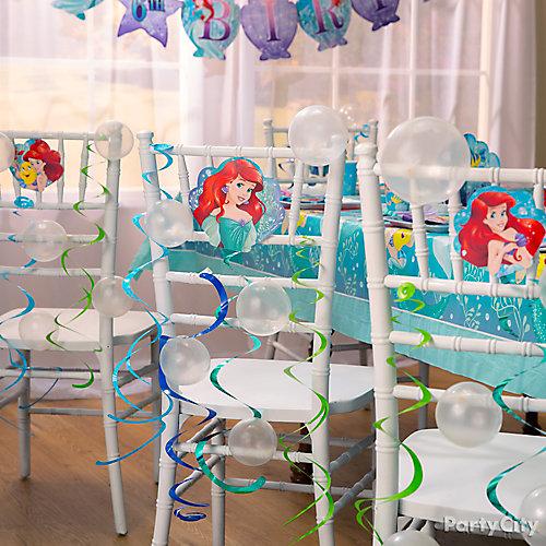 Little Mermaid Chair Decorating DIY