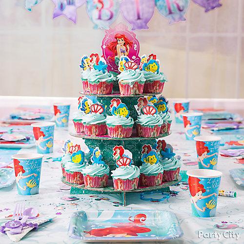 Little Mermaid Cupcake Tower Idea