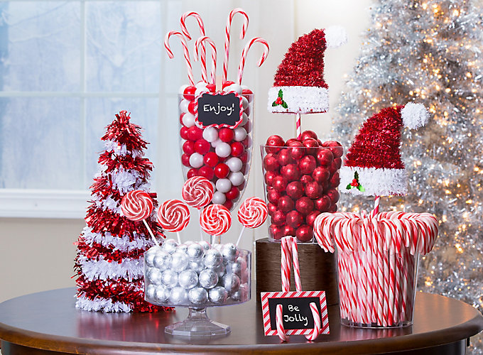candy cane table decoration ideas. Black Bedroom Furniture Sets. Home Design Ideas