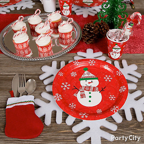 Friendly Snowman Place Setting Idea