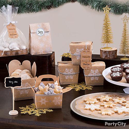 Rustic Winter Cookie Exchange Tablescape