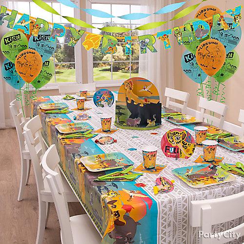 Lion Guard Party Table Idea