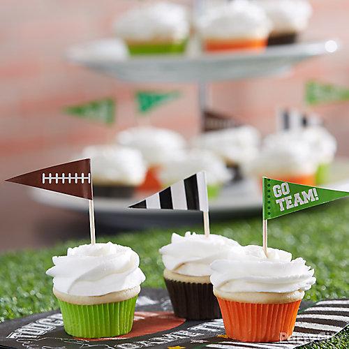 Mini Cupcakes With Flags Idea