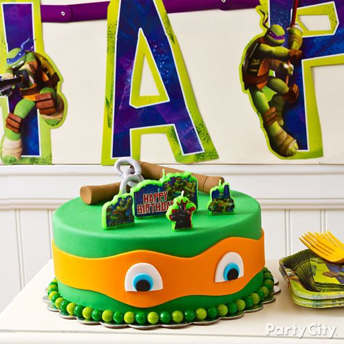 Peachy Fondant Teenage Mutant Ninja Turtles Cake How To Party City Canada Birthday Cards Printable Riciscafe Filternl