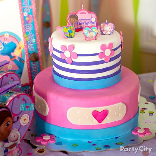 Phenomenal Doc Mcstuffins Fondant Cake How To Party City Birthday Cards Printable Nowaargucafe Filternl