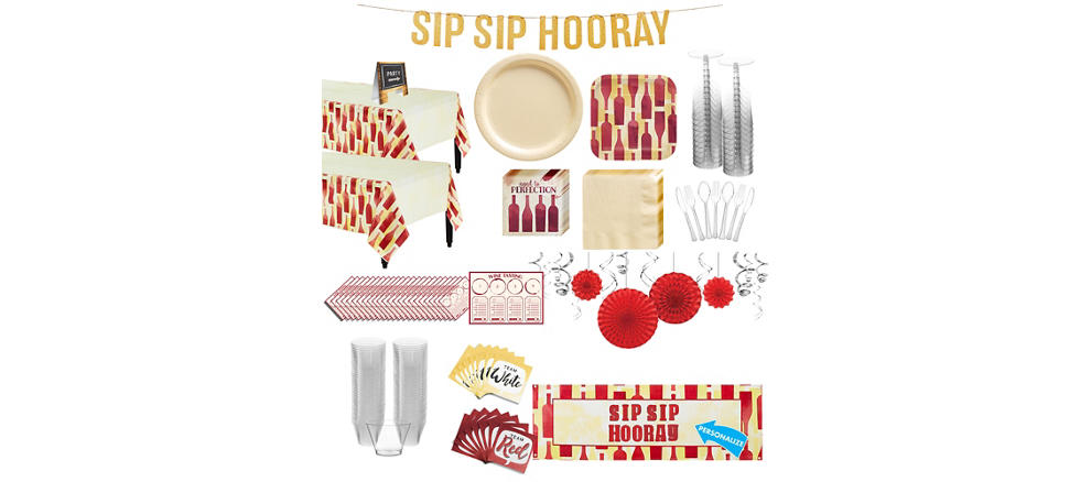 Sip Sip Hooray Party Supplies Wine Theme Party Party City