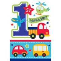 All aboard 1st birthday party supplies 1st birthday party party city all aboard 1st birthday invitations 8ct stopboris Gallery
