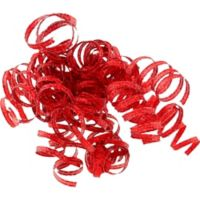 Giant red gift bow with tails party city canada glitter red curled gift ribbons negle Gallery
