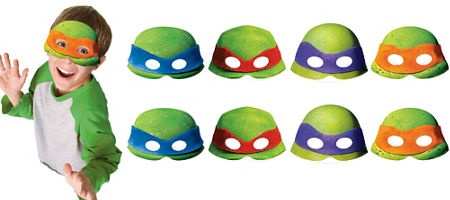 Teenage mutant ninja turtles party supplies ninja turtle birthday teenage mutant ninja turtles masks 8ct solutioingenieria Image collections