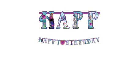 Frozen party supplies frozen birthday party ideas party city frozen birthday banner stopboris Image collections