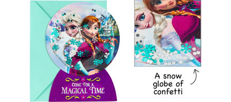 Frozen party supplies frozen birthday party ideas party city premium 3d frozen invitations 8ct stopboris Image collections