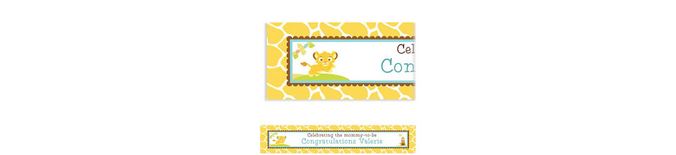 Custom lion king baby shower invitations party city custom lion king baby shower baby shower banner 6ft filmwisefo Gallery