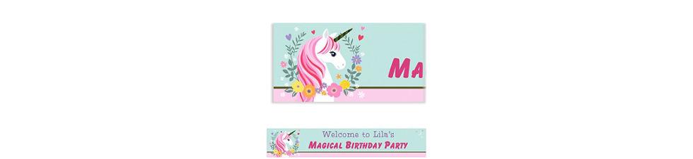 Custom Magical Unicorn Banner