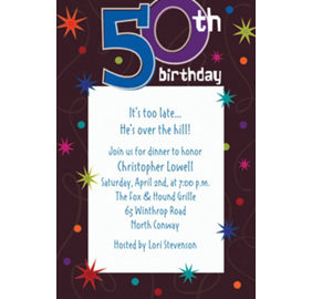 Custom the party continues 50th birthday photo invitations party city custom the party continues 50th birthday invitations filmwisefo