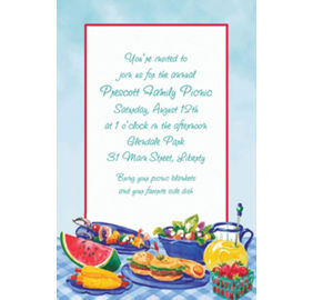 custom summer picnic thank you notes party city
