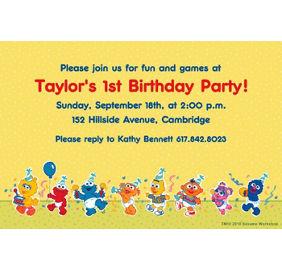 Custom sesame street 1st birthday invitations party city custom sesame street 1st birthday invitations stopboris Gallery