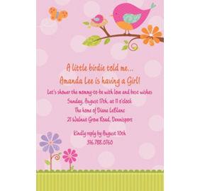 Custom tweet baby girl baby shower banner 6ft party city custom tweet baby girl baby shower invitations filmwisefo