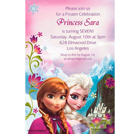 Frozen invitations 8ct party city custom frozen invitations stopboris Image collections