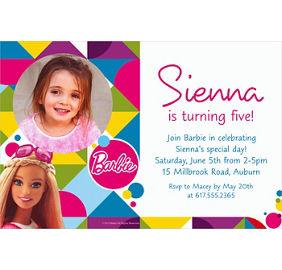 barbie sparkle invitation party city