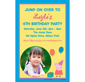 custom peppa pig invitation party supplies party city