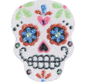 Girls 39 day of the dead accessories party city for Day of the dead body jewelry
