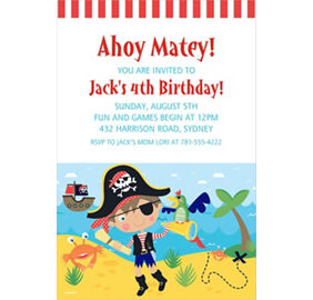 custom little pirate photo invitation little pirate party supplies