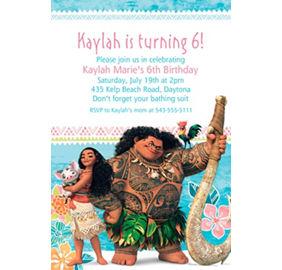 custom moana photo invitation moana party supplies party city