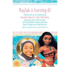 Custom Moana Photo Invitation