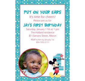 Custom mickeys 1st birthday invitation mickey mouse 1st birthday custom mickeys 1st birthday photo invitation filmwisefo
