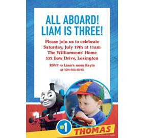 Custom Thomas The Tank Engine Photo Invitation
