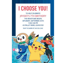 custom pokemon core photo invitations party city