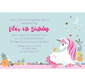 Magical unicorn invitations 8ct party city custom magical unicorn invitation stopboris Choice Image