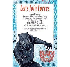 custom black panther photo invitation party city