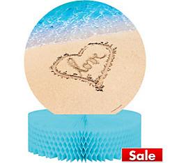 Beach Love Wedding Honeycomb Centerpiece