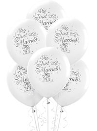 Wedding Balloons 15ct Just Married