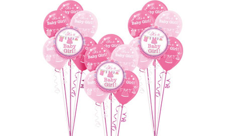 It's a Girl Baby Shower Balloon Kit 18ct