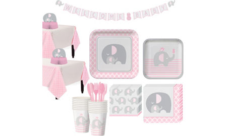 Pink Baby Elephant Baby Shower Party Supplies Party City