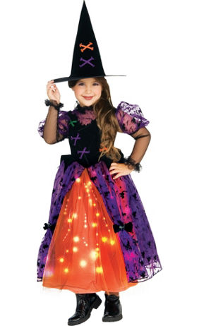 Toddler Girls Light-Up Sparkle Witch Costume | Party City