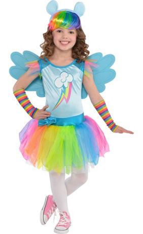 Child Rainbow Dash Slipper Shoes - My Little Pony | Party City