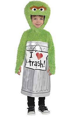 toddler boys oscar the grouch costume sesame street