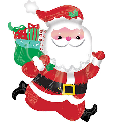 Santa theme party santa claus party supplies party city giant running santa balloon spiritdancerdesigns