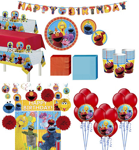 Sesame Street Tableware Ultimate Kit For 24 Guests