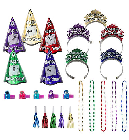 Ultimate Congrats Grad Purple Graduation Party Kit for 54 Guests