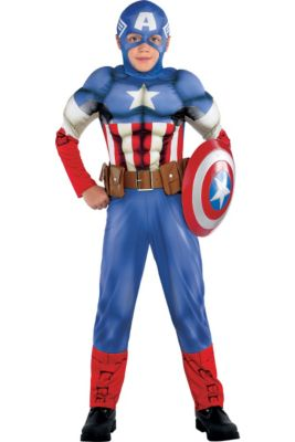 Captain America Costumes For Kids Adults Captain America Halloween Costumes Party City Related:captain marvel cosplay captain marvel costume women captain america costume. captain america halloween costumes