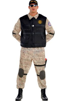 bbd6fd9983ef Adult Seal Team Hero Costume Plus Size