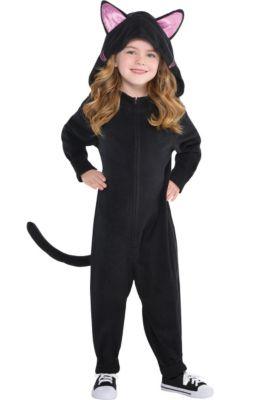 406424b05277 Toddler Girls Zipster Black Cat One Piece Costume